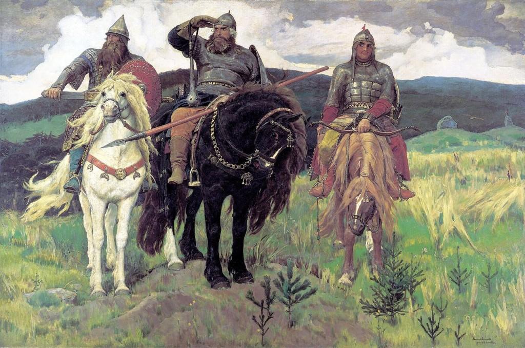 Tři bohatýři (Viktor Vasněcov, 1898)